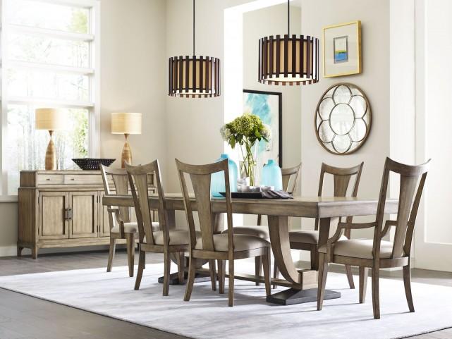 Evoke Barley Trestle Extendable Dining Room Set