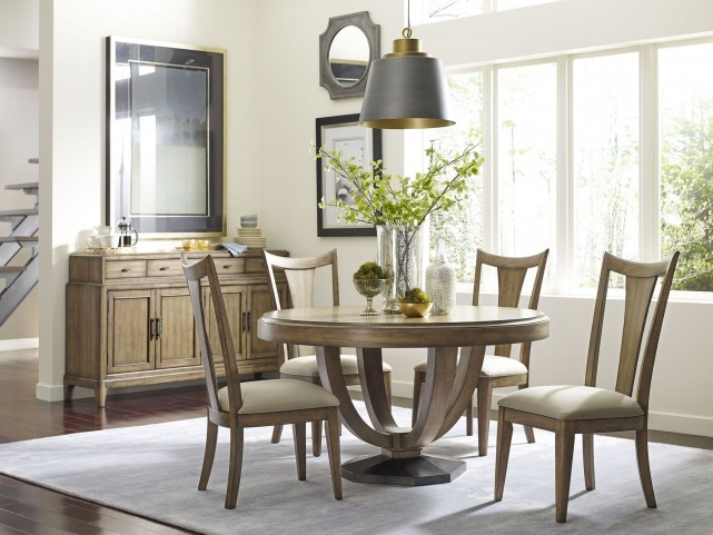 Evoke Barley Round Dining Room Set