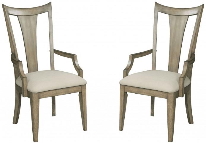 Evoke Barley Slat Back Arm Chair Set of 2