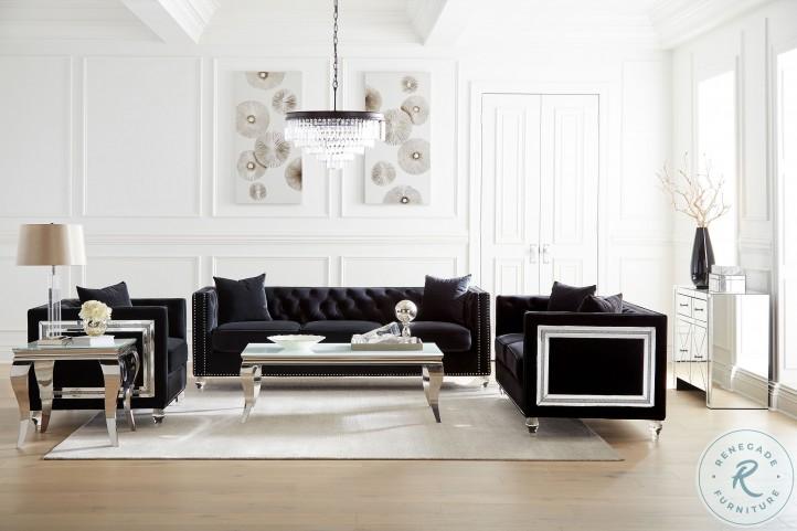 Delilah Black Living Room Set