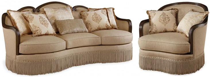 Giovanna Golden Quartz Living Room Set