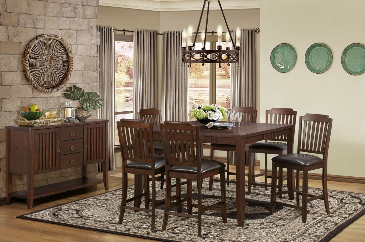 Dickens Butterfly Leaf Extendable Counter Height Dining Room Set