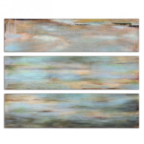 Horizon View Hand Painted Panel Set of 3