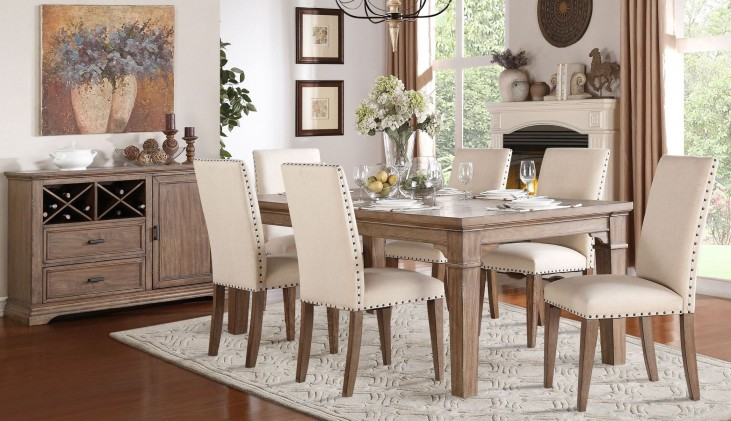Mill Valley Weathered Wash Extendable Dining Room Set