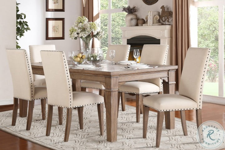 Mill Valley Oak Extendable Dining Room Set
