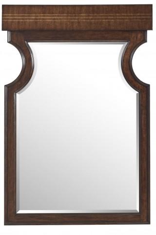 Villa Couture Mottled Walnut Dario Mirror