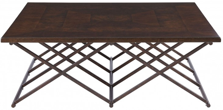 Villa Couture Mottled Walnut Rocco Cocktail Table