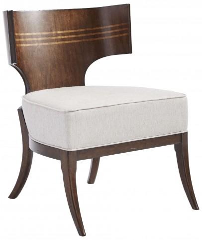 Villa Couture Mottled Walnut Dario Accent Chair