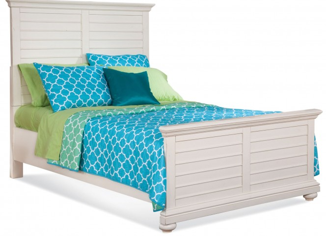 Pathways White Queen Panel Bed