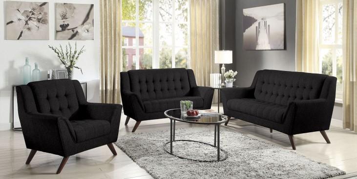 Baby Natalia Black Living Room Set
