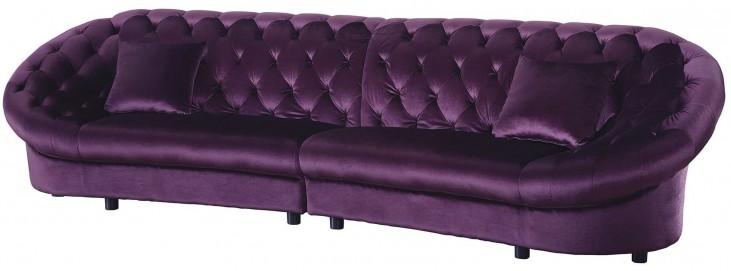 Romanus Purple Velvet Sectional
