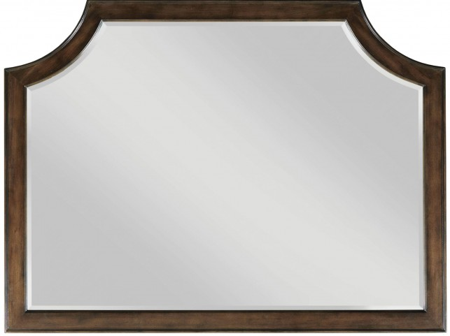 Grantham Hall Deep Coffee Landscape Mirror
