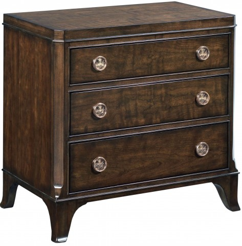 Grantham Hall Deep Coffee 3 Drawer Nightstand