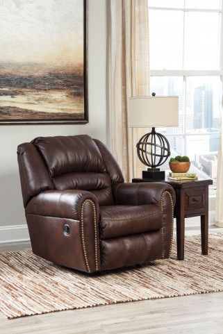 Manzanola Chocolate Rocker Recliner