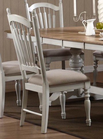 Hollyhock Distressed white Side Chair Set of 2