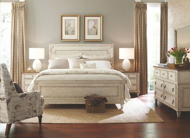 Southbury Parchment Panel Bedroom Set