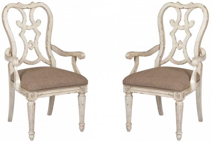 Southbury Parchment Cortona Arm Chair Set of 2