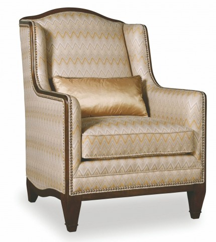 Ava Creme High Back Accent Chair