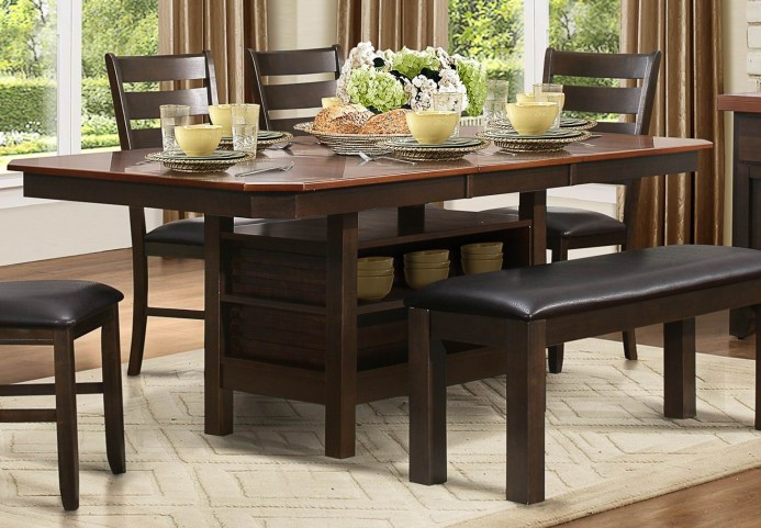 Corliss Dark Brown Uv Coating Top Dining Table