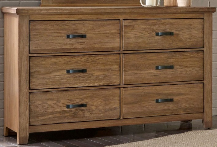 Cassel Park Natural 6 Drawer Storage Dresser