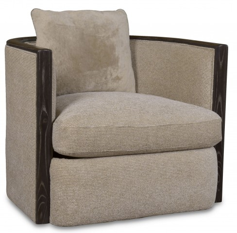 Wythe Coffee Bean Wood Trim Accent Chair