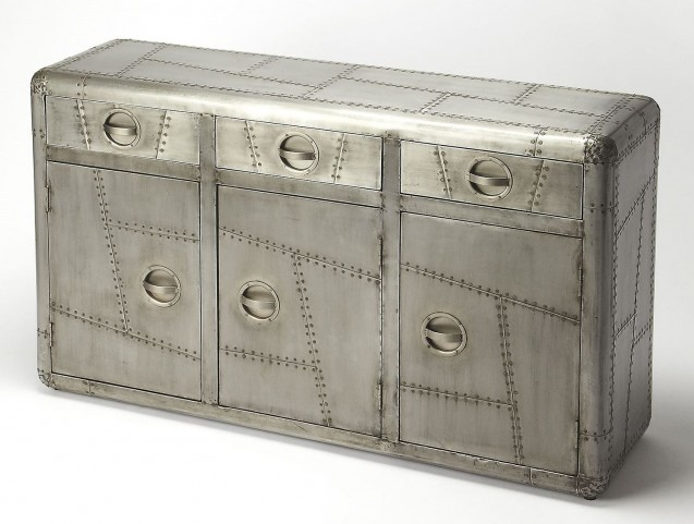 Industrial Chic Yeager Aviator Console Cabinet