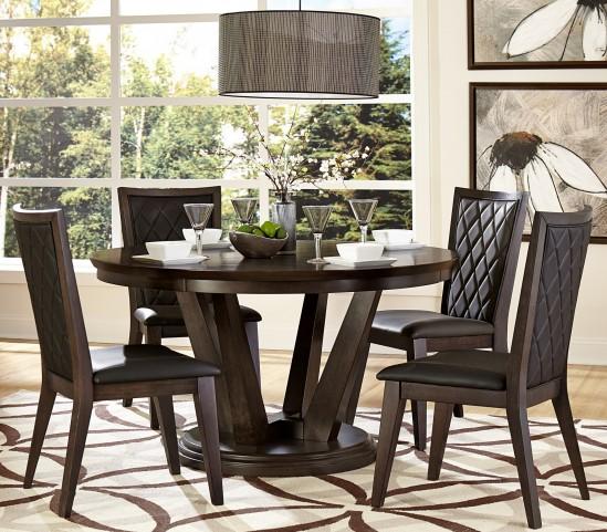 Villa Vista Dark Walnut Round Dining Room Set