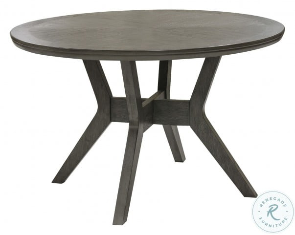 Nisky Gray Round Dining Table