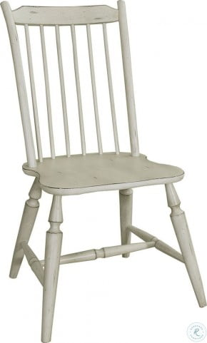 Incredible Oak Hill Tan Smoke Antique White Windsor Back Side Chair Pdpeps Interior Chair Design Pdpepsorg