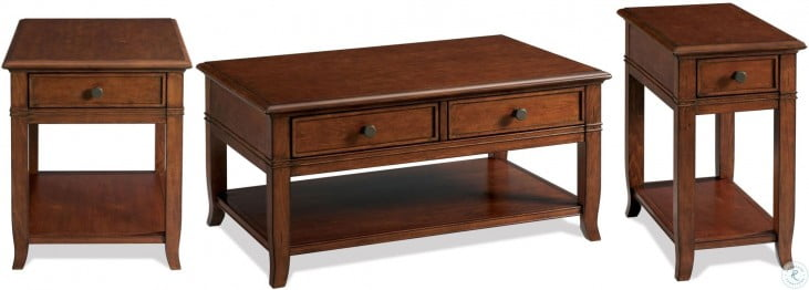 Campbell Burnished Cherry End Table