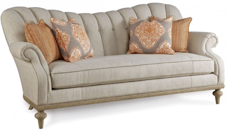 Collection One Upholstered Brewster Channel Back Sofa