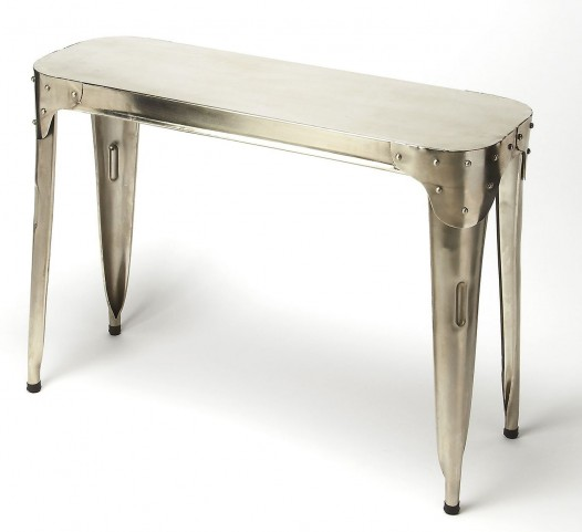 Industrial Chic Silver Console Table
