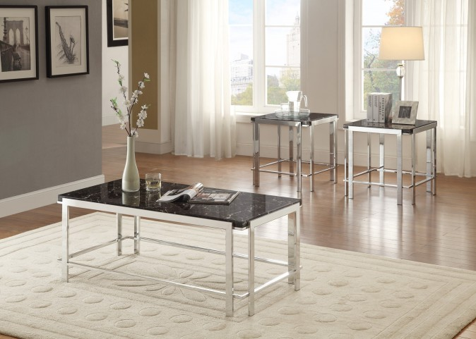 Watt Faux Marble Occasional Table Set of 3