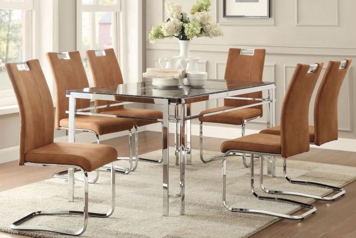 Watt Faux Marble Dining Room Set