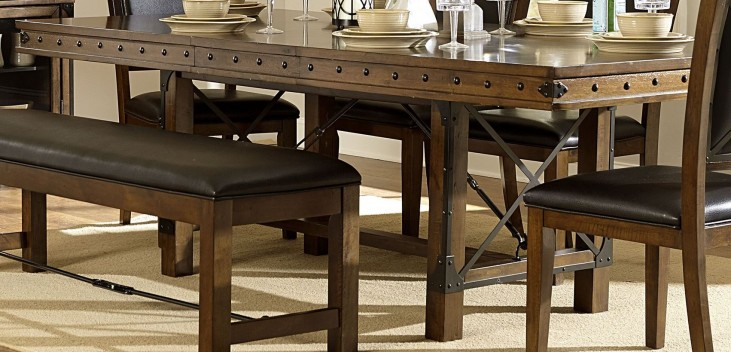 Urbana Burnished Extendable Dining Table