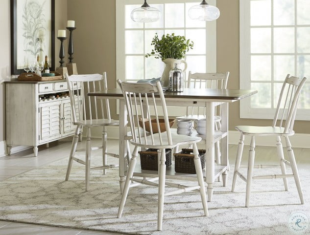 Super Oak Hill Tan Smoke Antique White Windsor Back Counter Chair Pdpeps Interior Chair Design Pdpepsorg