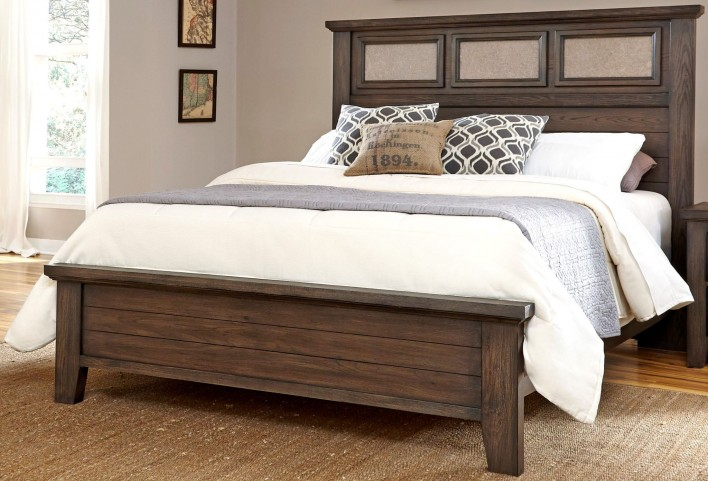 Cassel Park Rich Cocoa Queen Tile Bed