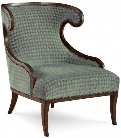 Palazzo Misty Teal Upholstered Accent Chair
