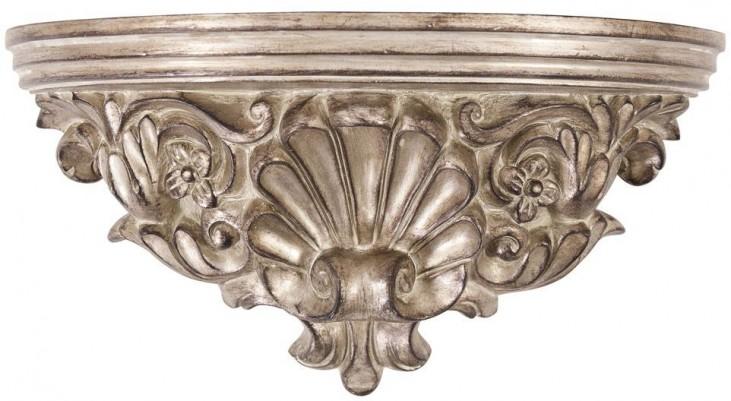 Baroque Antique Silver Wall Shelf