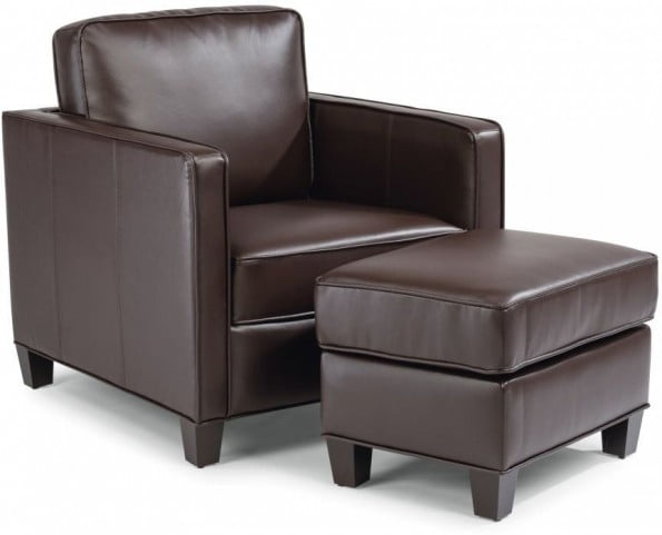 Surprising Bradley Dark Brown Chair With Ottoman Ncnpc Chair Design For Home Ncnpcorg