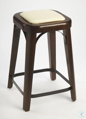 Fermi Coffee Faux Leather Counter Stool