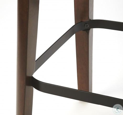 Fermi Coffee Faux Leather Bar Stool