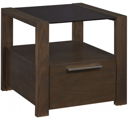 Hudson Glass Top End Table