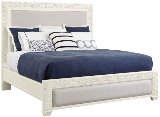Coastal Living Oasis Saltbox White Queen Catalina Panel Bed