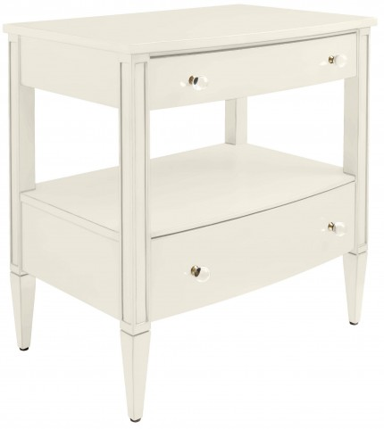 Coastal Living Oasis Saltbox White Mulholland Nightstand