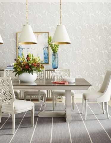 Coastal Living Oasis Saltbox White Moonrise Pedestal Extendable Dining Room Set