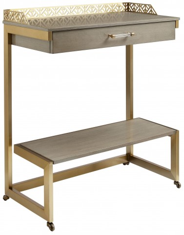 Coastal Living Oasis Grey Birch Catalina Bar Cart