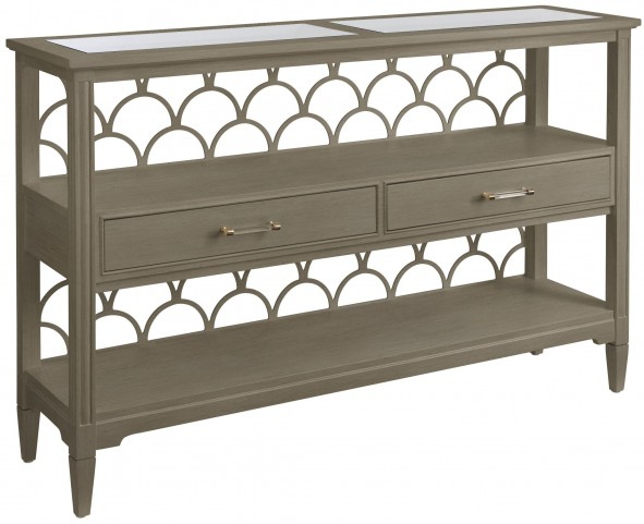 Coastal Living Oasis Grey Birch Sea Cloud Console Table