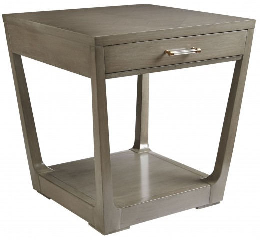 Coastal Living Oasis Grey Birch Meridian Square Lamp Table