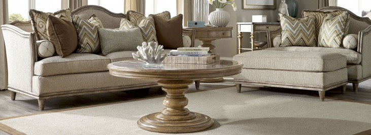 Pavilion Bisque Round Occasional Table Set